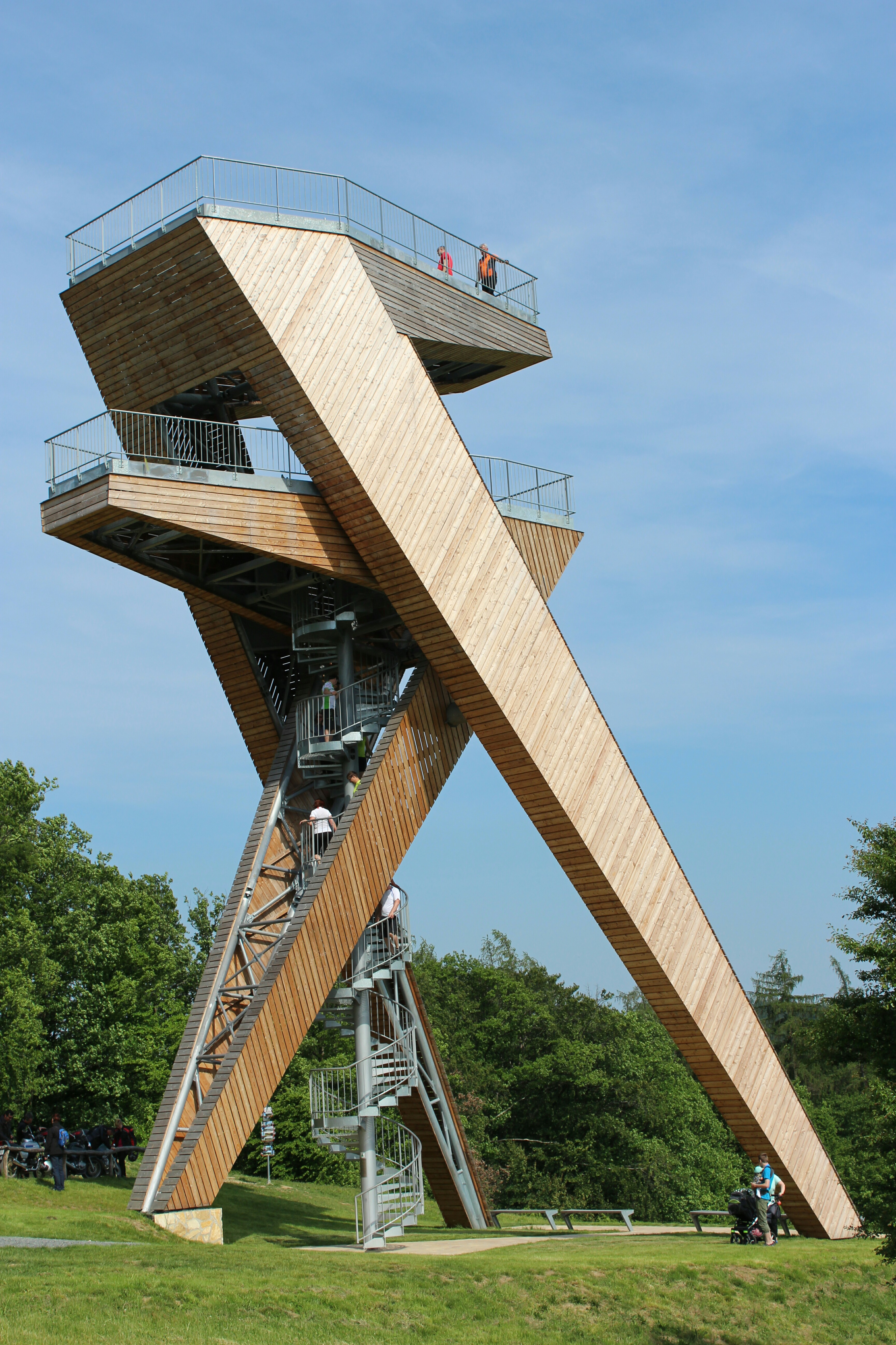 architecture modern lookout watchtower tower wooden lin