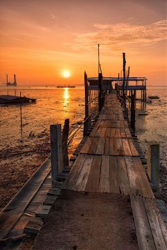 sunrise sun jetty picsart picoftheday