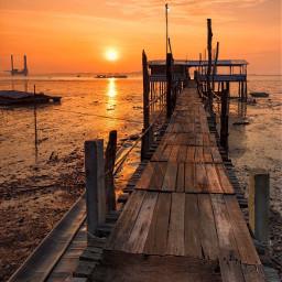 sunrise sun jetty picsart picoftheday