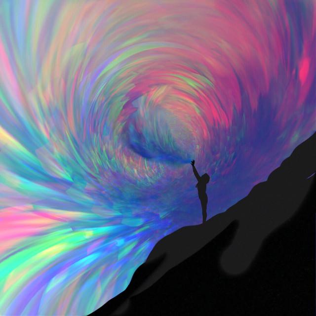 Create #art #interesting #sureal #surealism #aurora #rainbow