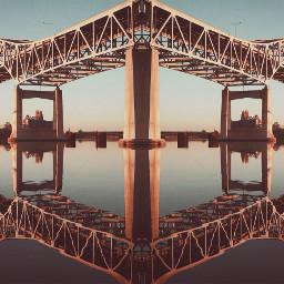 mirrored paphotochallenge edited bridge reflection