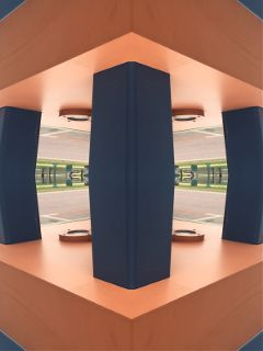 mirrored distorted architecture colourcontrast