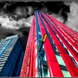 architecture building red city