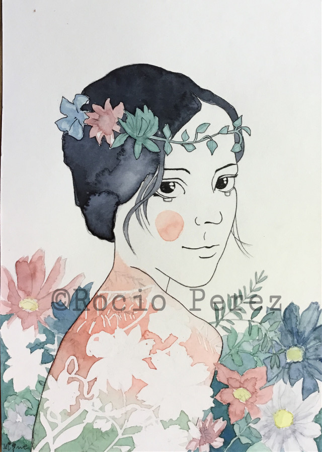 Spring time by Rocio Vigne  #illustration #draw #drawing #sprping #flowers #art #rociovigne