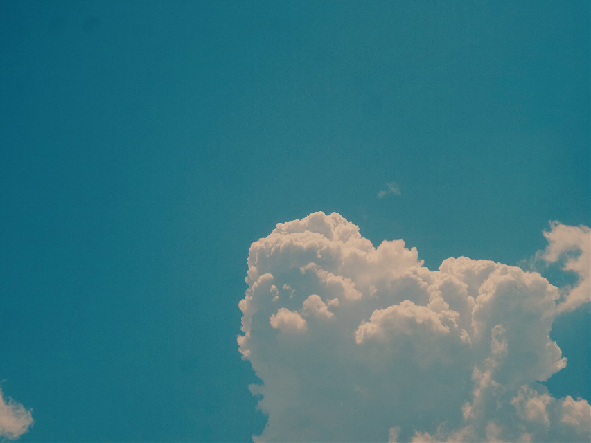 # On a bright sunny afternoon #milky clouds #blue sky #natural #photography