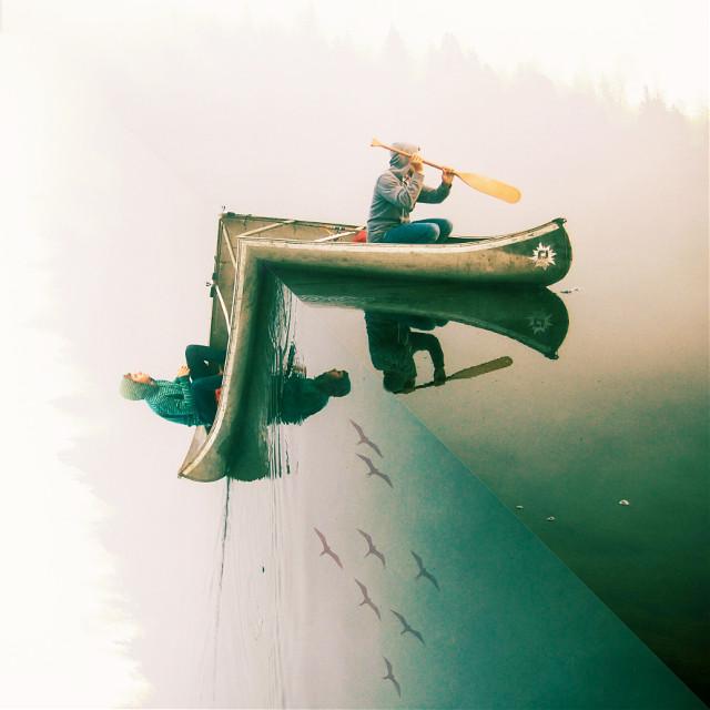 Troubled waters... 😊 @freetoedit pic. #picsart #edited #endoftheworld #edgeoftheworld #people