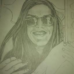 drawing portrait blackandwhite freetoedit