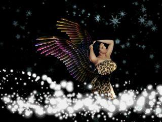 colorful people wings angel flakes