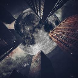 madewithpicsart edited moon pixitesource starrynight