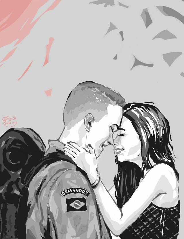 [[ LOVE ]]    #FreeToEdit #love #hdr #cute #desenho #dibujo #draw #girl #military #brasil
