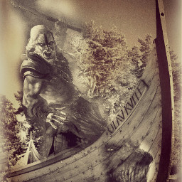 edited boat vikings vintage
