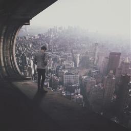 sky people cityscape edited unsplash
