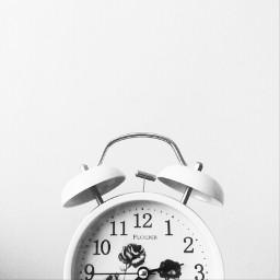 blackandwhite clock white minimal minimalism freetoedit
