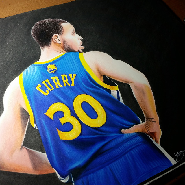 My newest drawing. #colorpencil  #artistic #creative #drawing #artwork #art #people #pencilart #colorful #warriors #curry #stephcurry #30