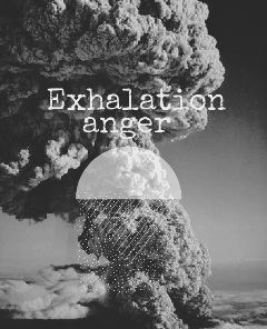 exhalation anger blackandwhite volcano mest