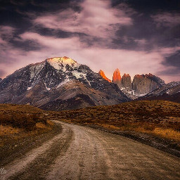 travel winter sunrise