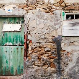 green door vintage retro minimal