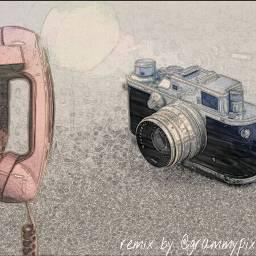 remix retro camera phone oldphone freetoedit