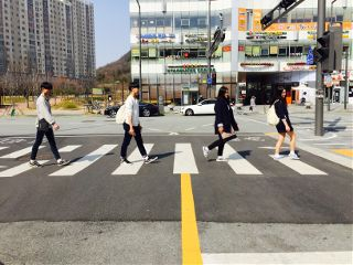 korea beatles thebeatles crosswalk imitation freetoedit