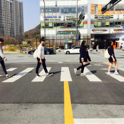 korea beatles thebeatles crosswalk imitation freetoedit
