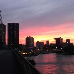 sunset colorful photography city sky