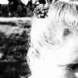 flower blackandwhite beautiful me outside