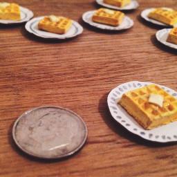 waffles tinyfood food brunch miniature