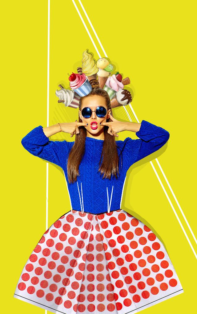 #colores #clipart #girl #collage #design #icecream #summer #icecreamhead #fun #summerfun #dress ##paperdress