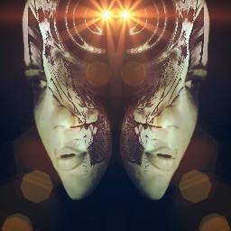 mirror art face