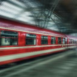 train motionblur travel red happytime