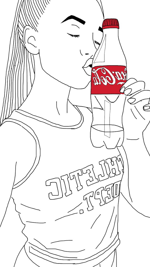 Havent done one in a while😅 This time I did one of me❤️X #art #outline #outlinetumblr #cocacola #cocacolavanilla #interesting #cute #FreeToEdit #wdpcrazylips