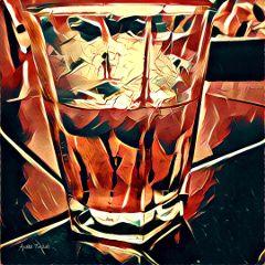 red warm drink glass summer