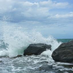beach nature photography rain splash