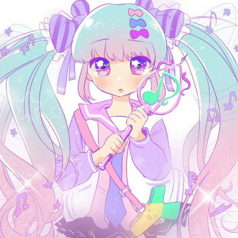 Anime Girl Hair Colors: Art Cute Anime Loli Pink Space