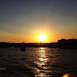 sunset sun sky sunrise istanbul