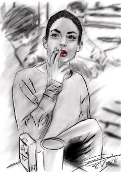 freetoedit drawing sketch blackandwhite girl