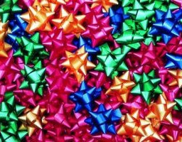 colorful christmas stars ornamental