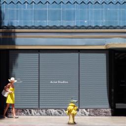 yellow colormatch artdeco architecture photosfromthestreet