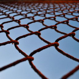 fence fences rust rusty red freetoedit