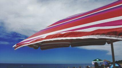beach umbrella lakemichigan
