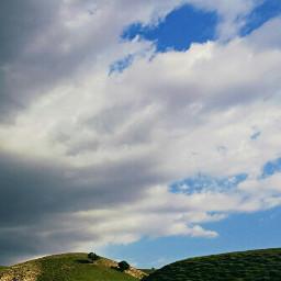 sky clouds trees blue_sky music