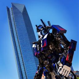 interesting art transformers optimusprime okc