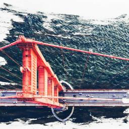 freetoedit bridge urban cars water