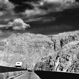 landscape blackandwhite highway freetoedit