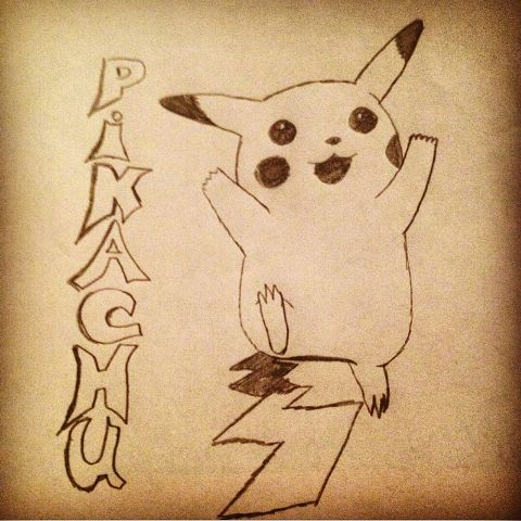 drawing pikachu