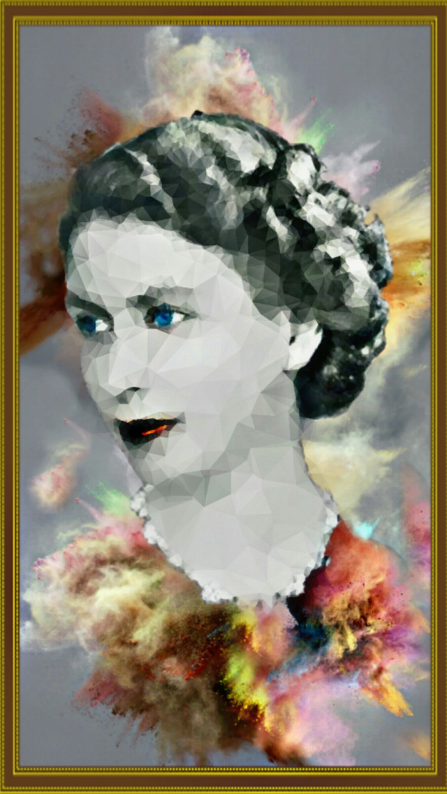 ★Queen Elizabeth II  #myedit #colorpowder #coloring_by_me  Original photo by google