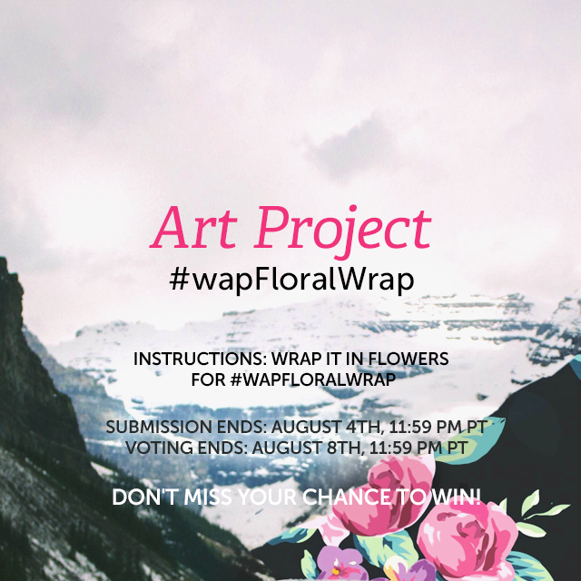 Give your images some floral wrapping for our Weekly Art Project! Use PicsArt's Floral Pattern package to gift wrap your shot in sheets of flowery wall paper. Get a jump start by checking out our tutorial ( https://picsart.com/tutorials/floral-wrap ) and tag your image with #wapFloralWrap to enter.