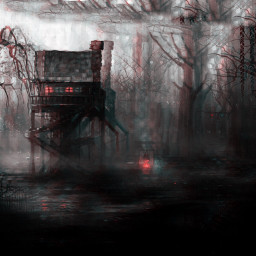 scary huntedhouse swamp dark trees