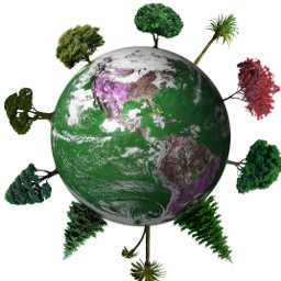 world art tree editing green