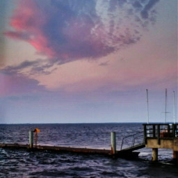colorful sea summer sunset boatdock